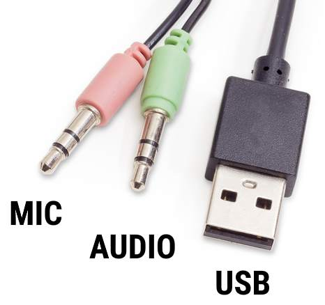Audio Jack Connector And USB