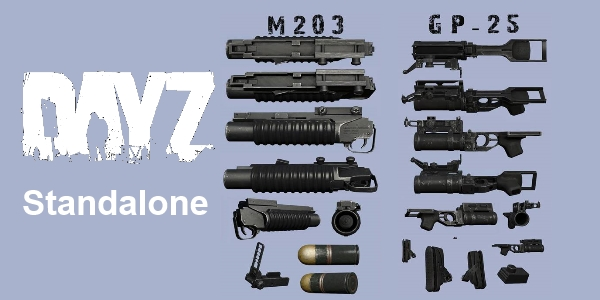 m203 and gp25 3d models