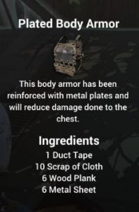 Plated Body Armor For H1Z1